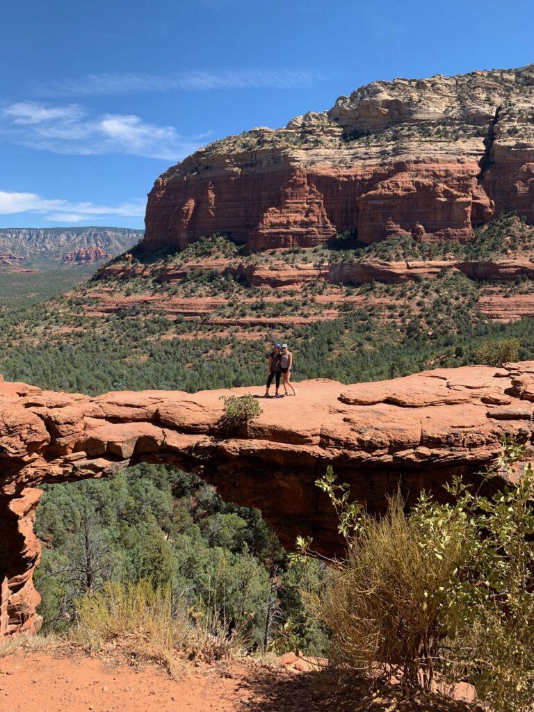 AE Noelle Brasier hiked Devil's Bridge in Sedona, Arizona